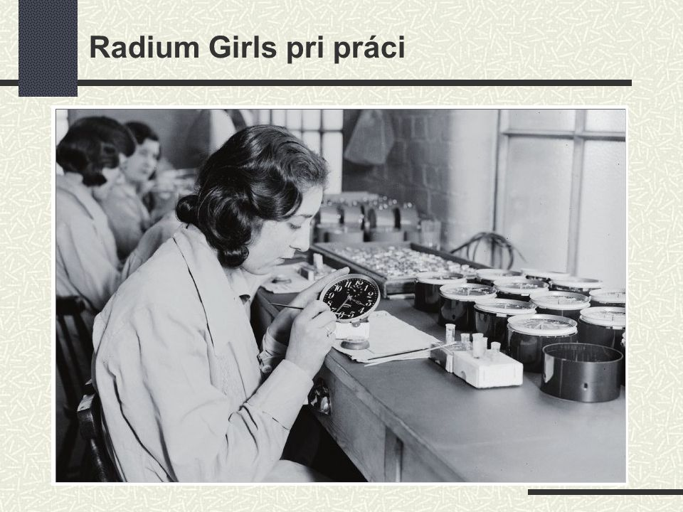 Radium Girls pri práci