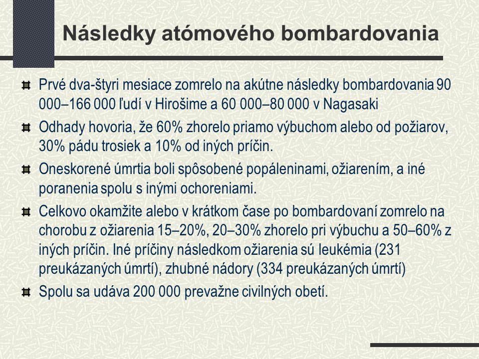 Následky atómového bombardovania