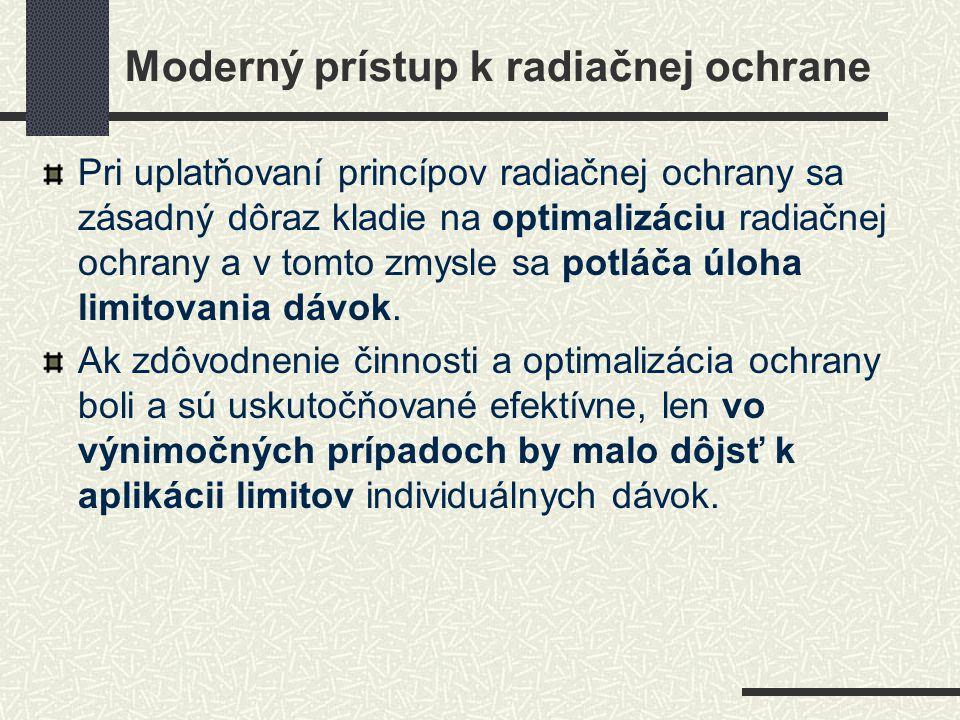 Moderný prístup k radiačnej ochrane