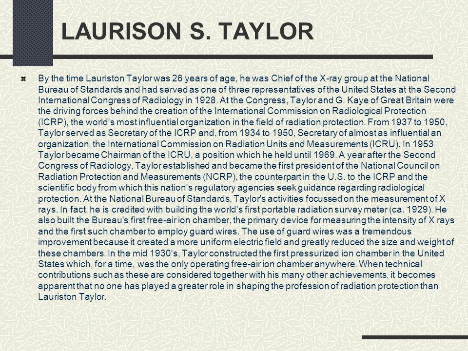 LAURISON S. TAYLOR