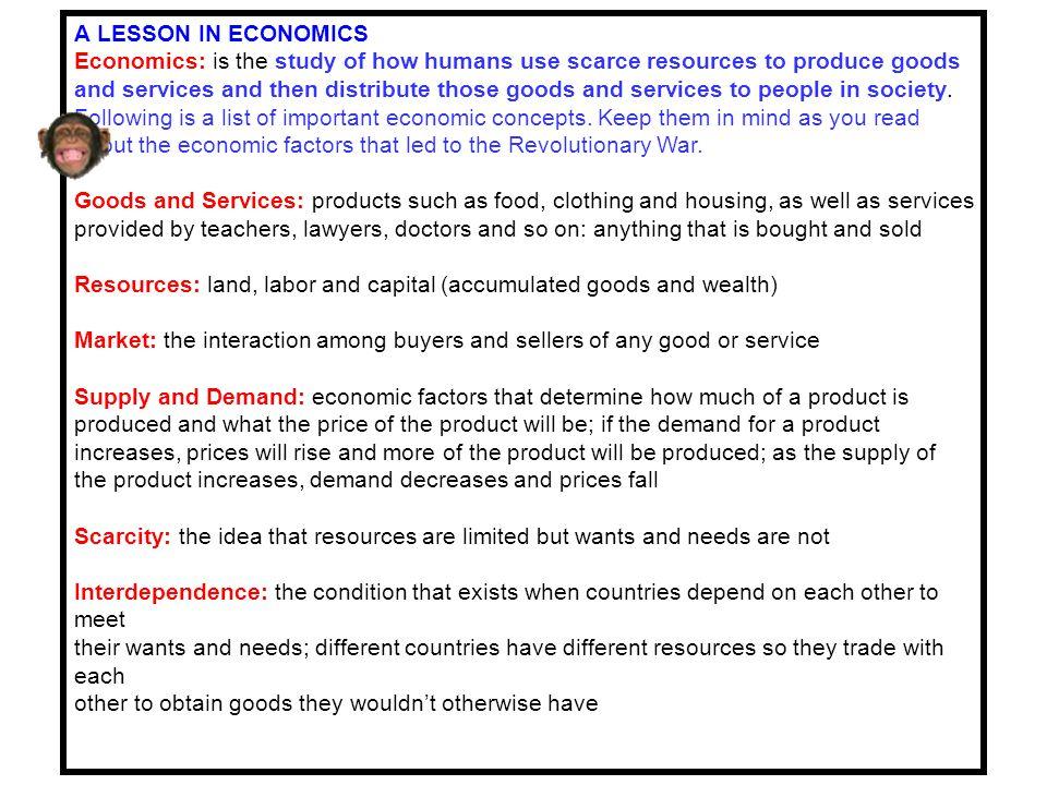 A LESSON IN ECONOMICS