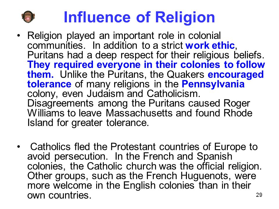 Influence of Religion