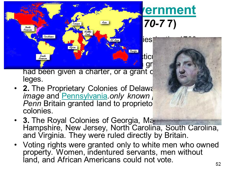 Colonial Government text (Pages 70-7 7)