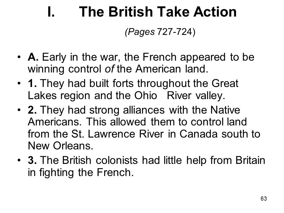 The British Take Action (Pages 727-724)