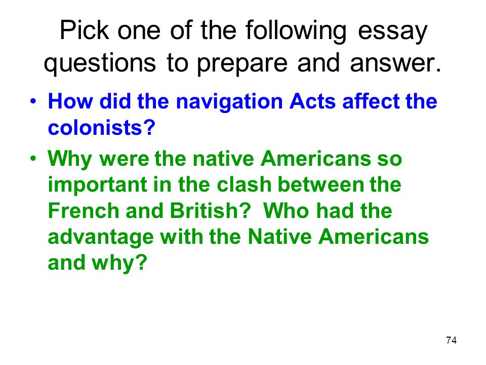 Pick one of the following essay questions to prepare and answer.