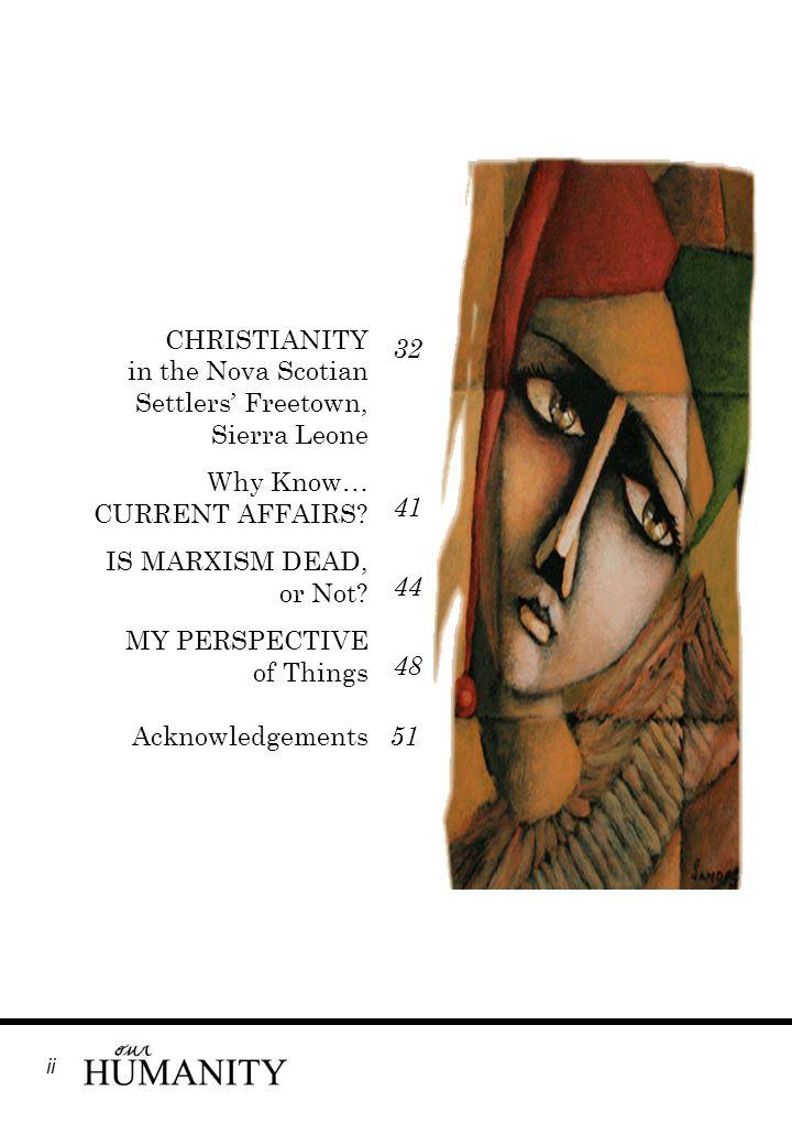 CHRISTIANITY in the Nova Scotian Settlers' Freetown, Sierra Leone