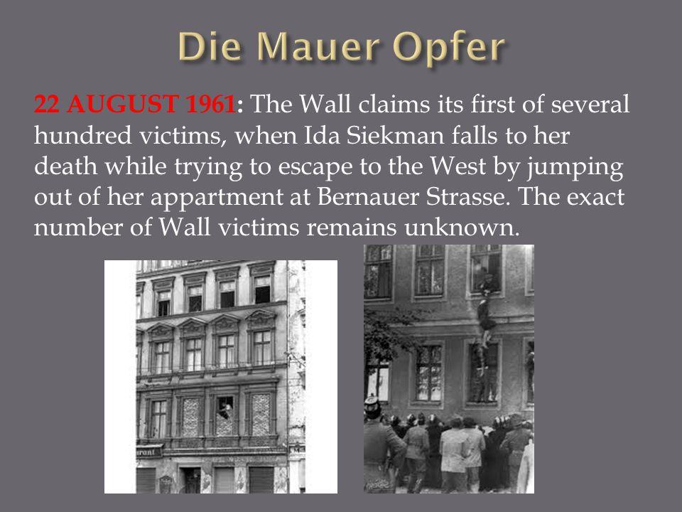 Die Mauer Opfer