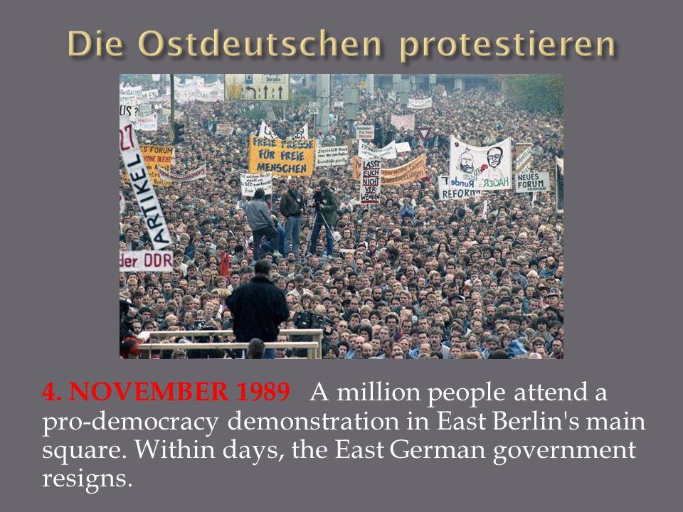 Die Ostdeutschen protestieren