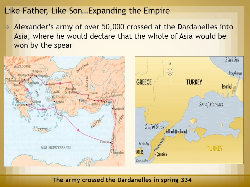The army crossed the Dardanelles in spring 334