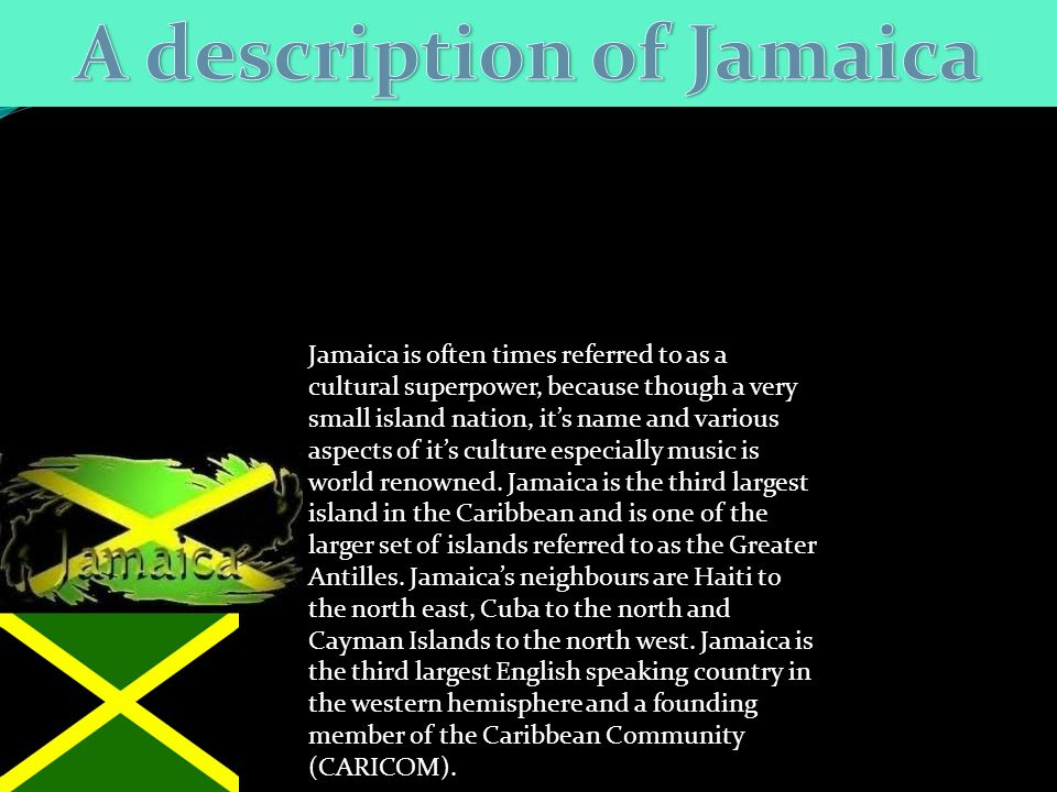 A description of Jamaica