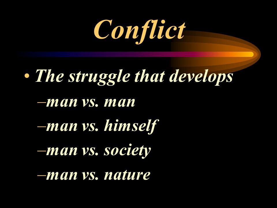 Conflict The struggle that develops man vs. man man vs. himself