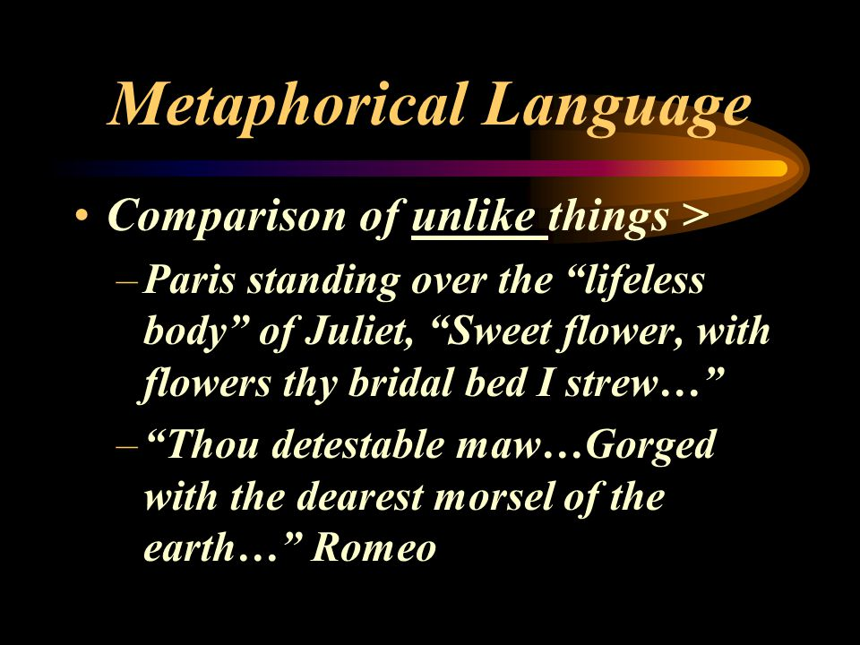 Metaphorical Language