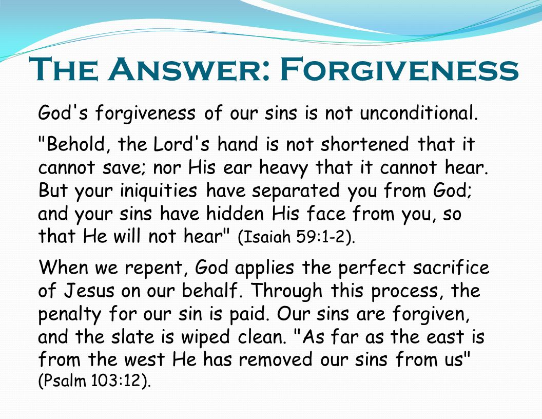 The Answer: Forgiveness