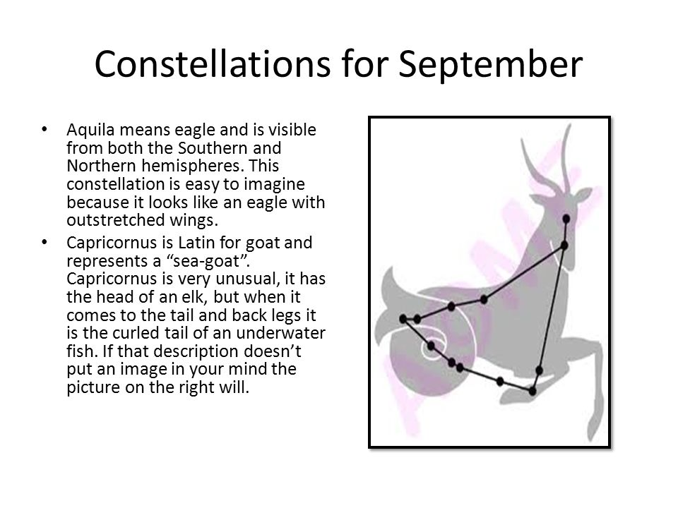 Constellations for September