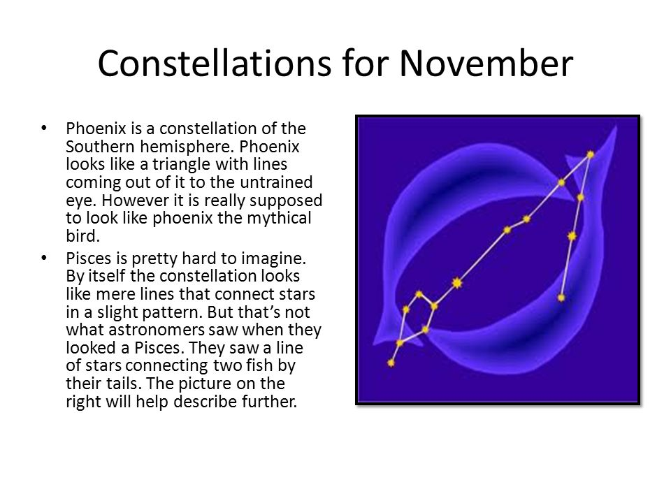 Constellations for November