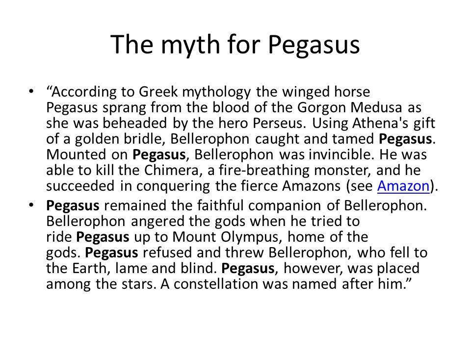 The myth for Pegasus