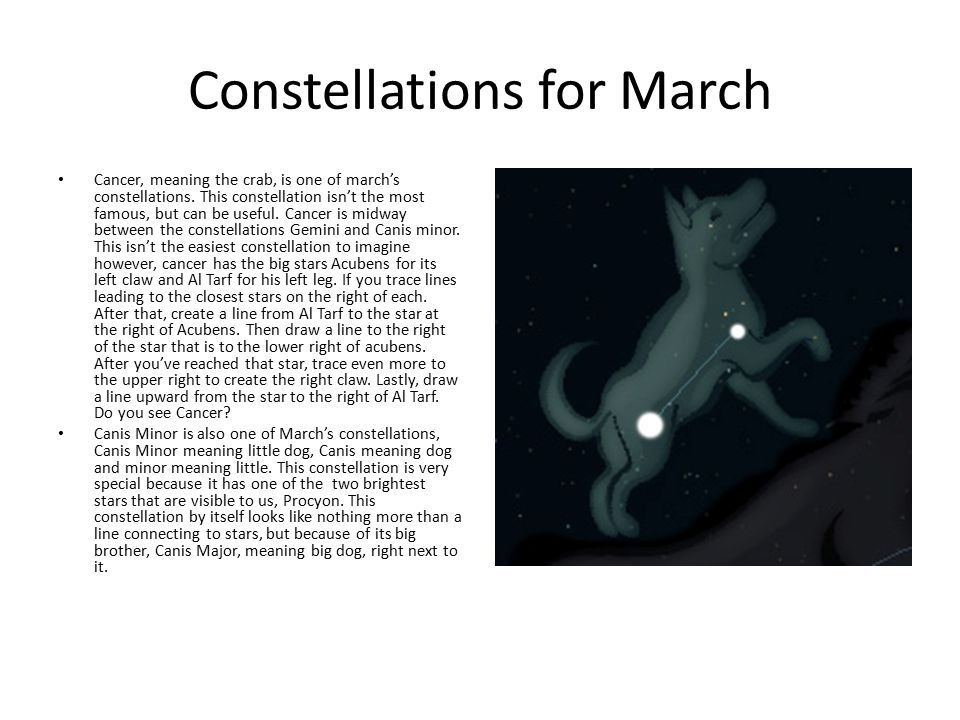 Constellations for March