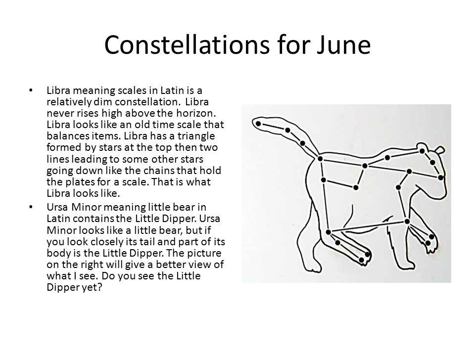 Constellations for June