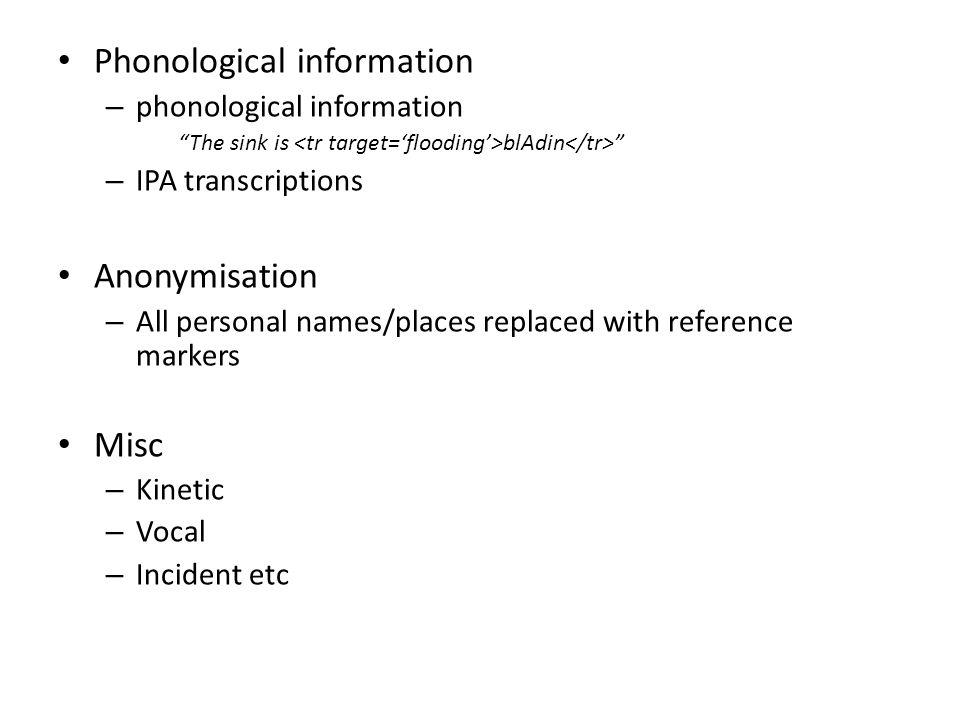 Phonological information