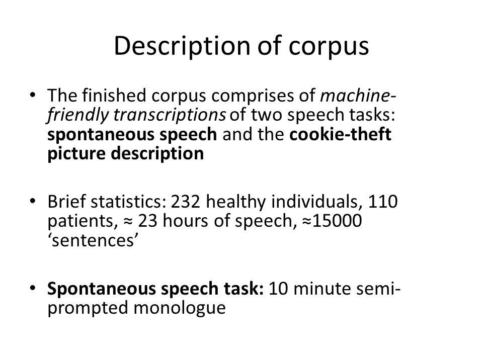 Description of corpus