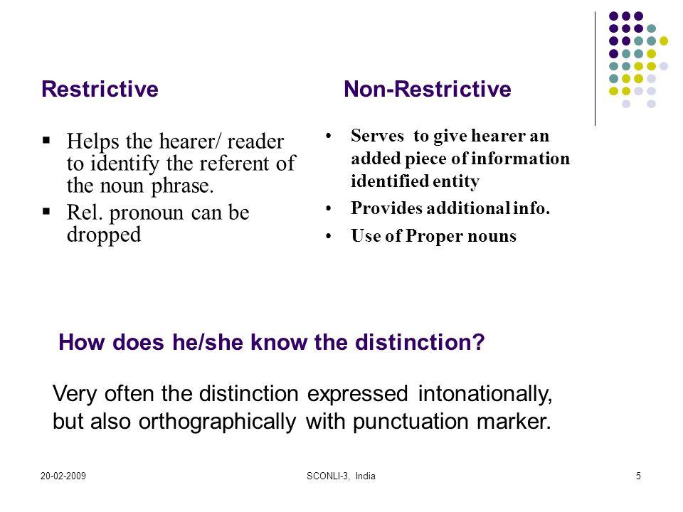 Restrictive Non-Restrictive