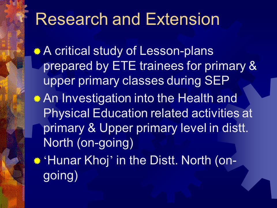 Research and Extension