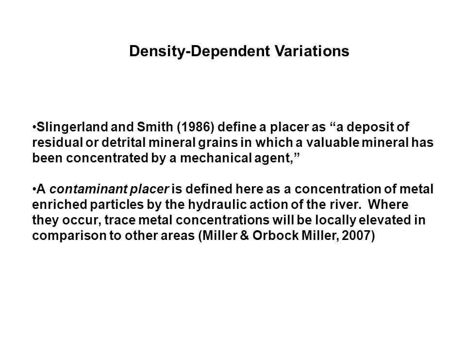 Density-Dependent Variations