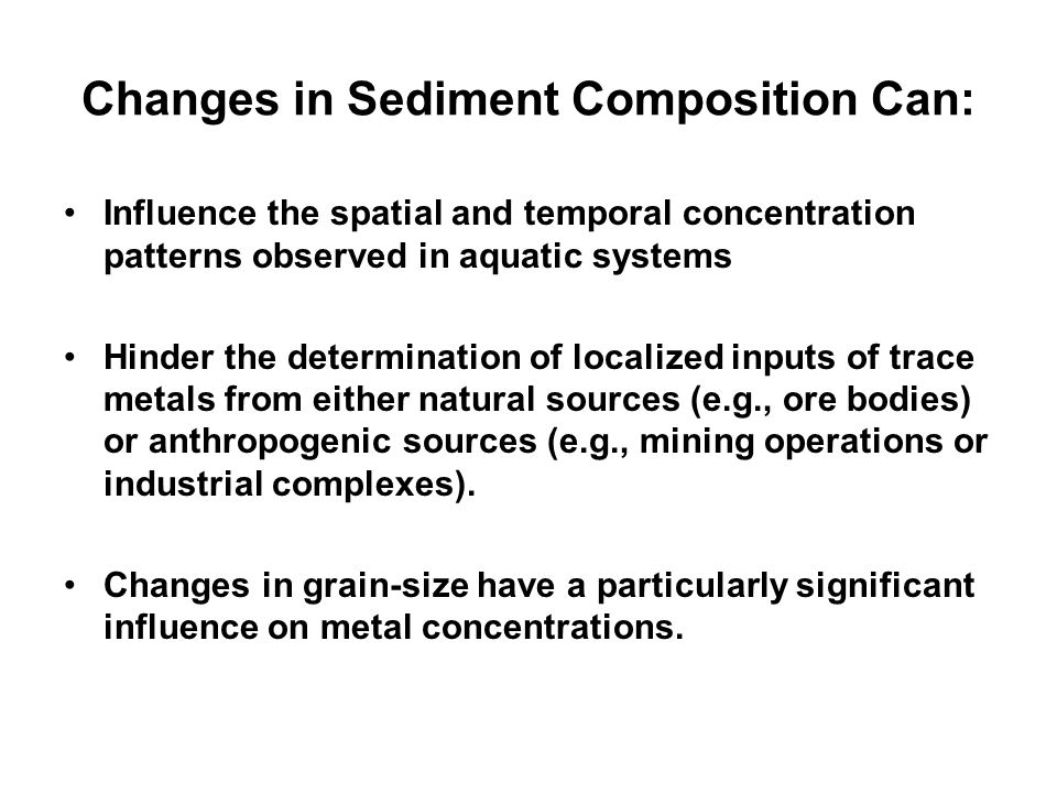 Changes in Sediment Composition Can:
