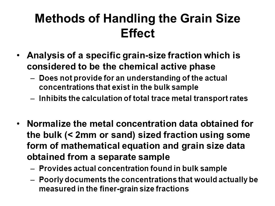 Methods of Handling the Grain Size Effect