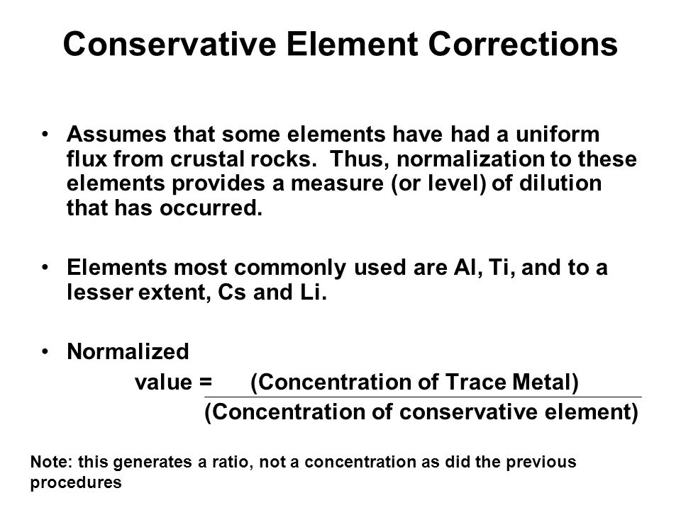 Conservative Element Corrections