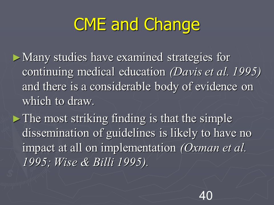 CME and Change