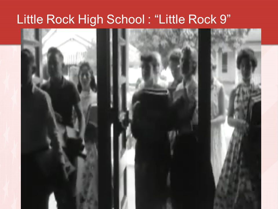 Little Rock High School : Little Rock 9