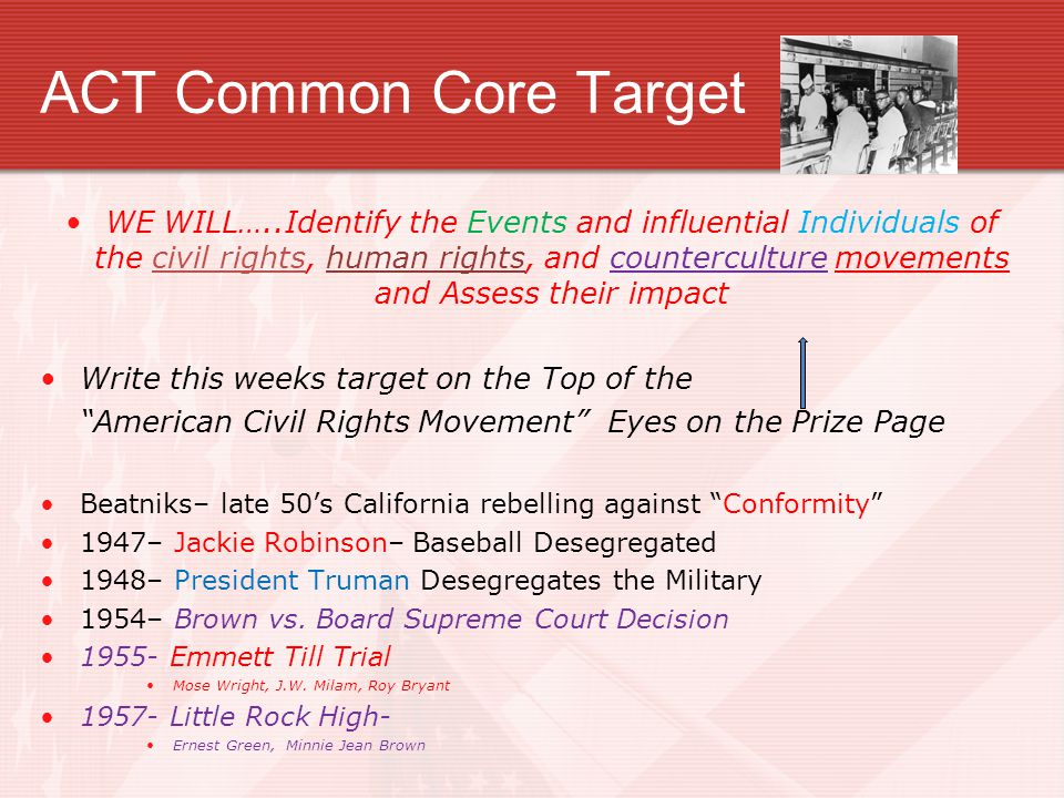 ACT Common Core Target