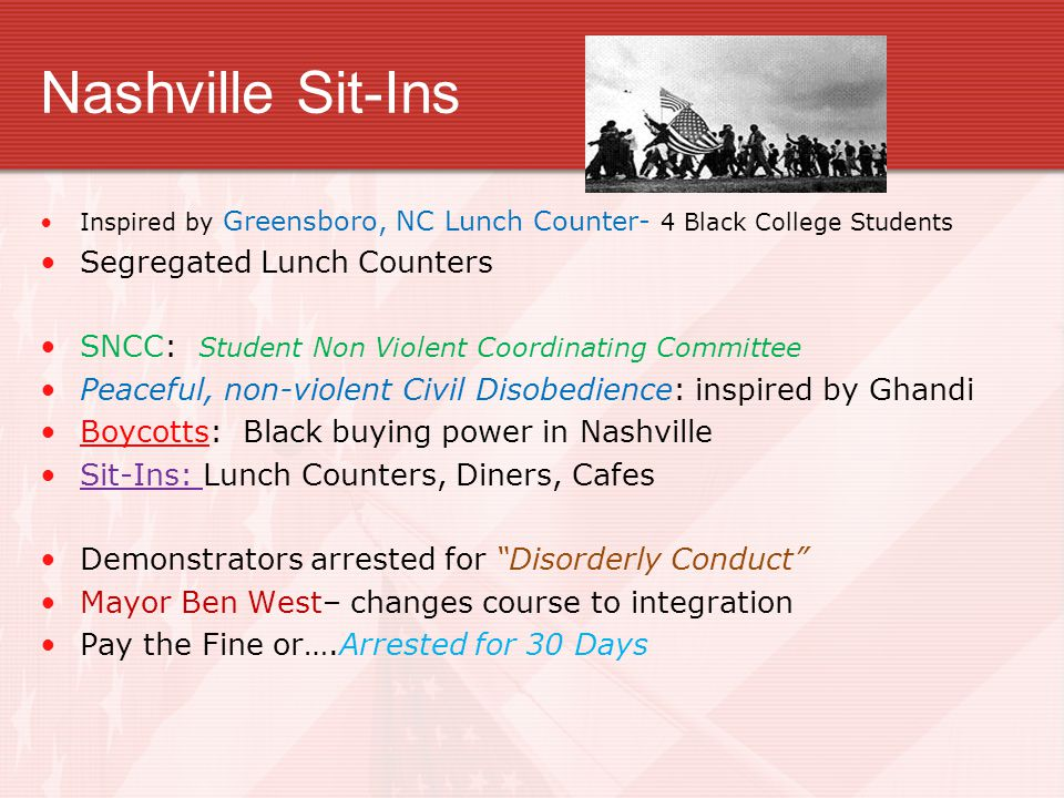 Nashville Sit-Ins Segregated Lunch Counters