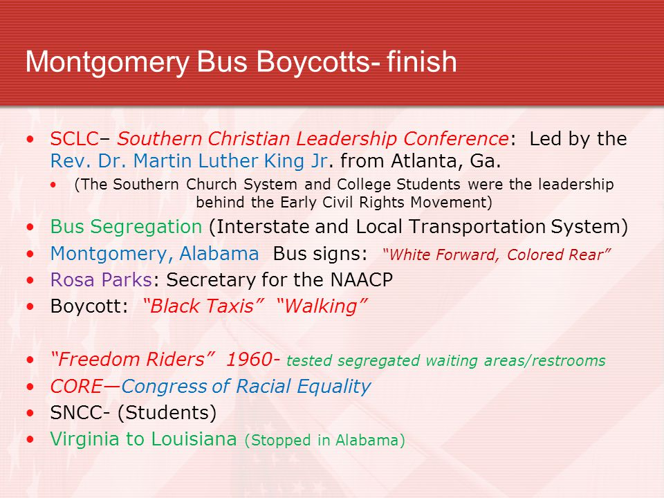 Montgomery Bus Boycotts- finish