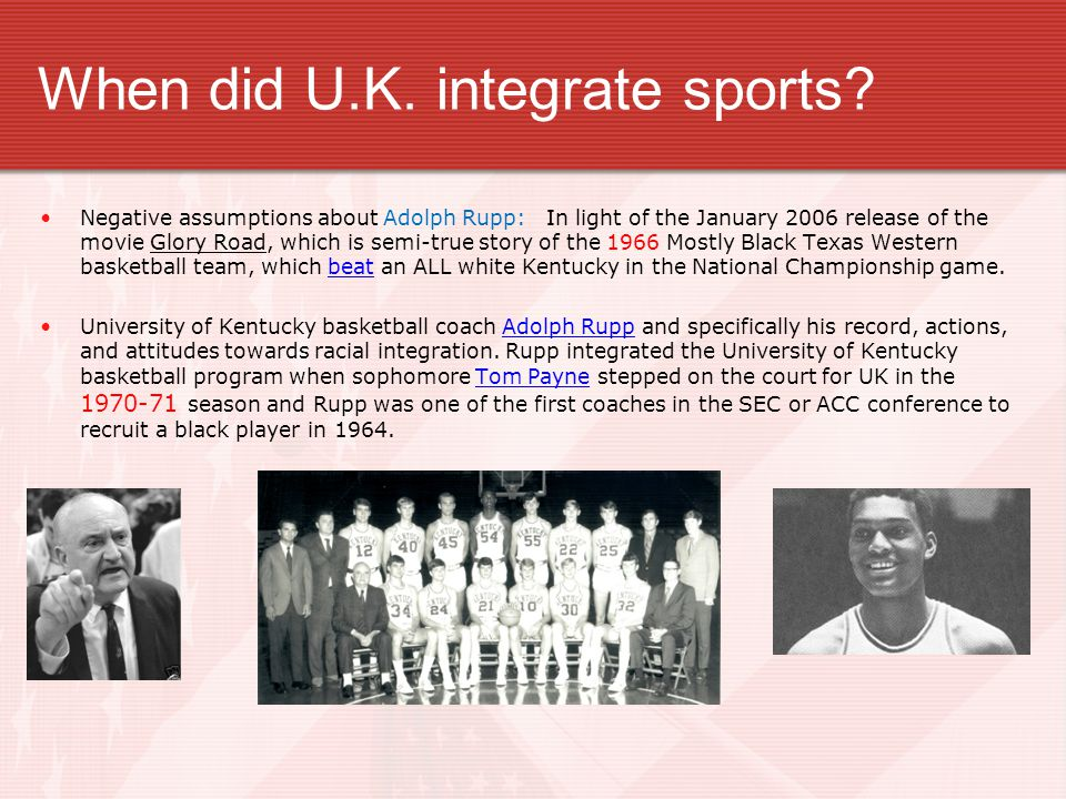 When did U.K. integrate sports
