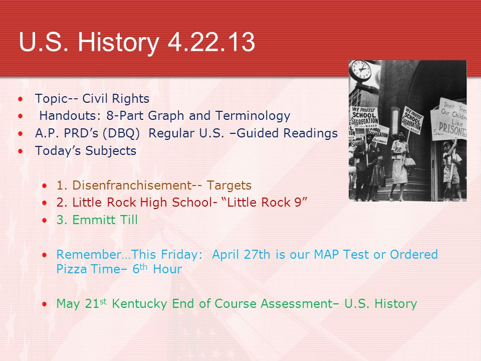 Taking On Segregation Chapter Section Civil Rights Era Ppt - Ap us history map test