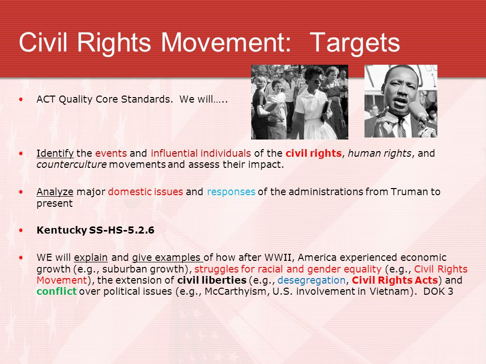 Civil Rights Movement: Targets