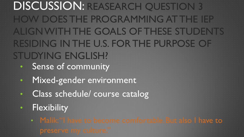Discussion: Reasearch Question 3