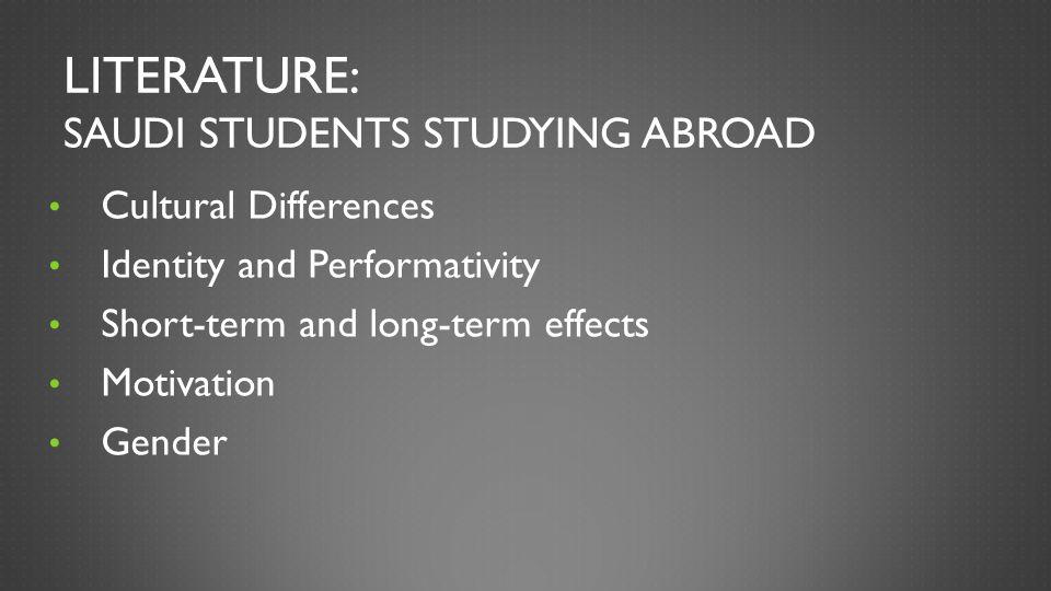 Literature: Saudi Students Studying Abroad