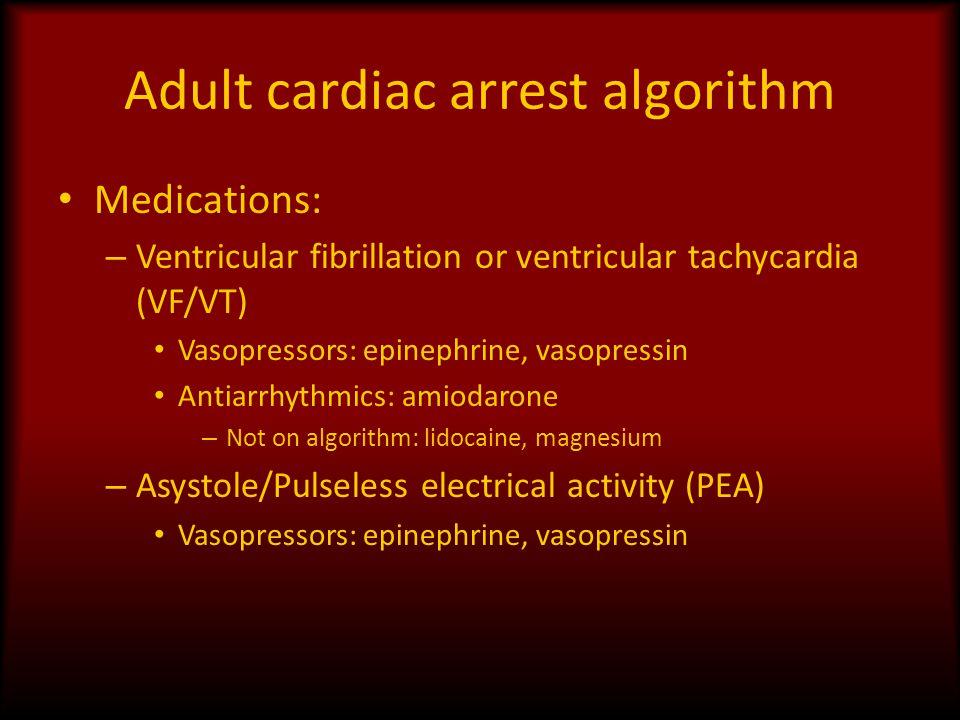 Adult cardiac arrest algorithm