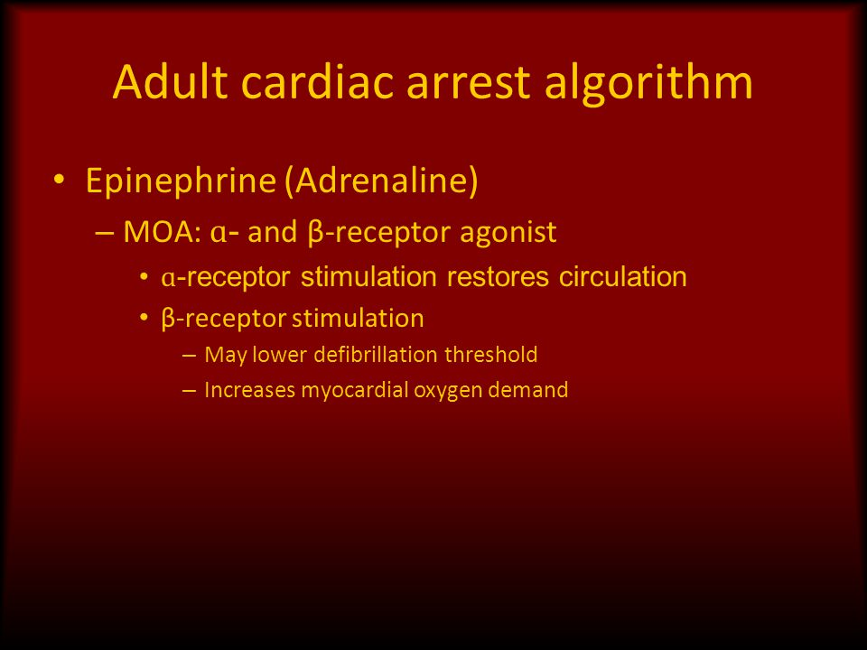 Adult cardiac arrest algorithm