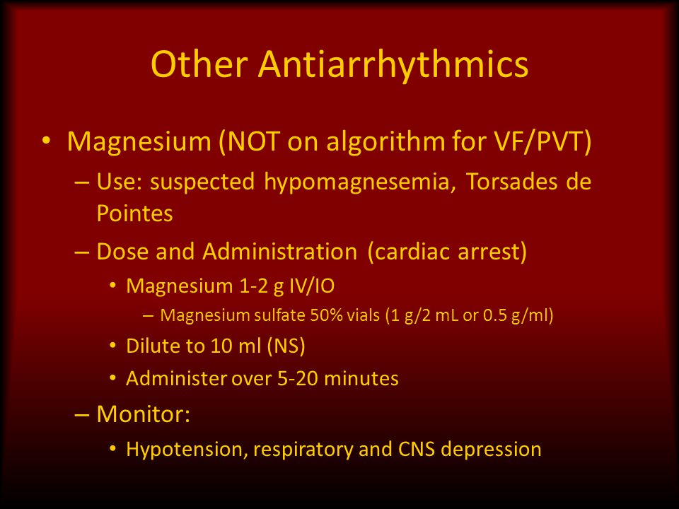 Other Antiarrhythmics