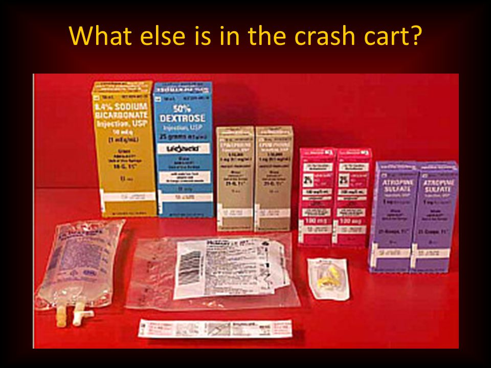 What else is in the crash cart