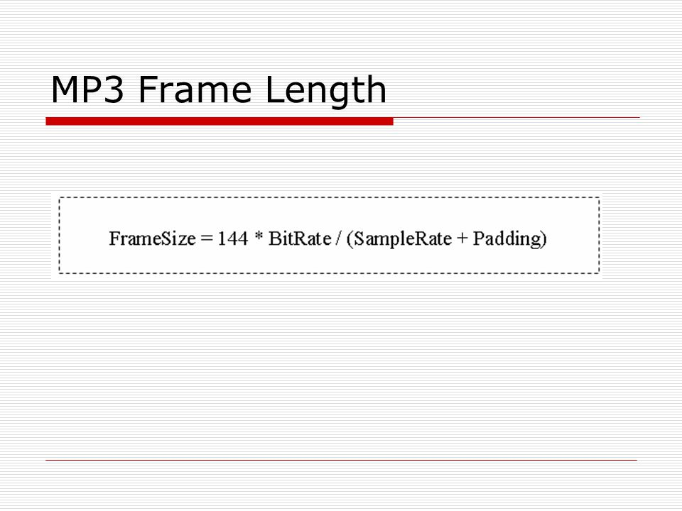 MP3 Frame Length
