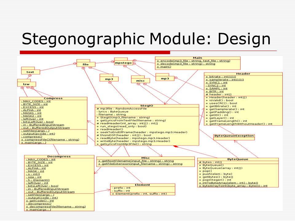 Stegonographic Module: Design