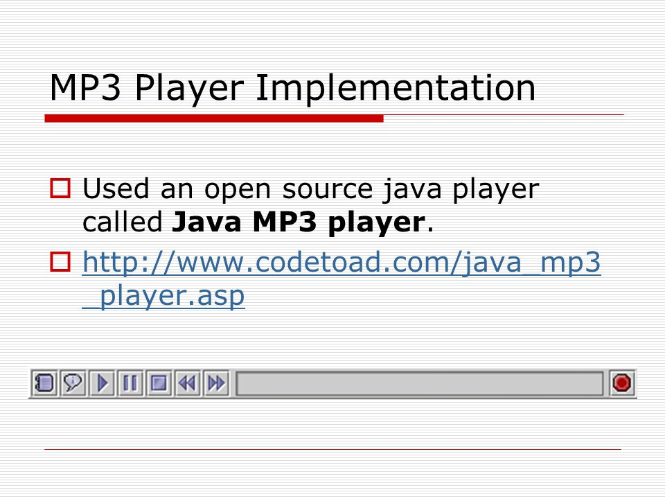 MP3 Player Implementation