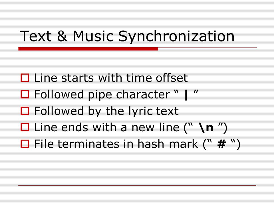 Text & Music Synchronization