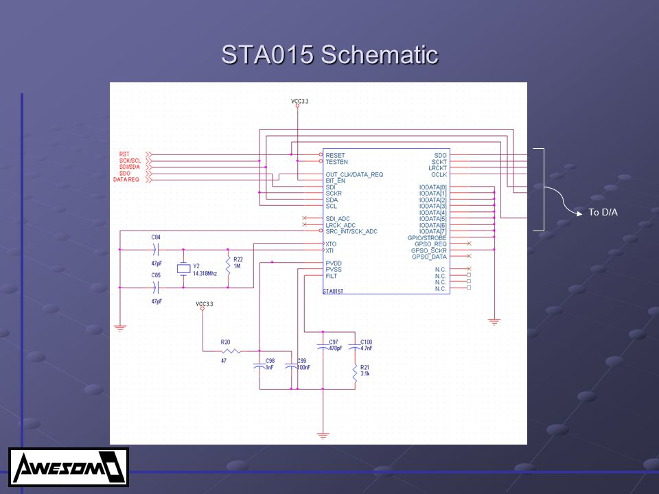 STA015 Schematic To D/A