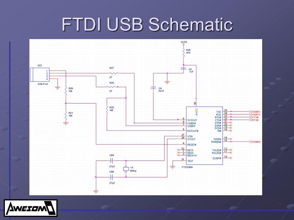 FTDI USB Schematic